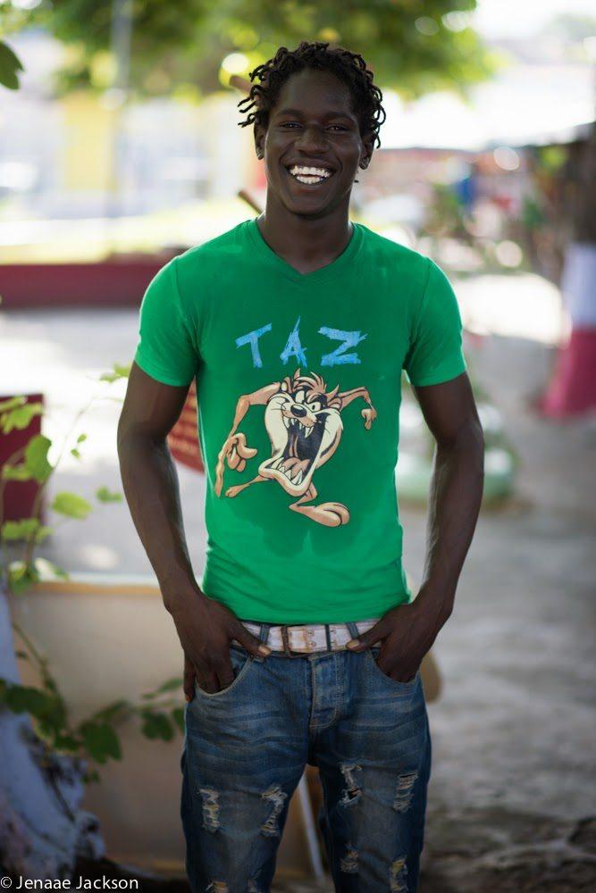 Young Jamaican man at Ocho Rios Craft Market, Jamaica.