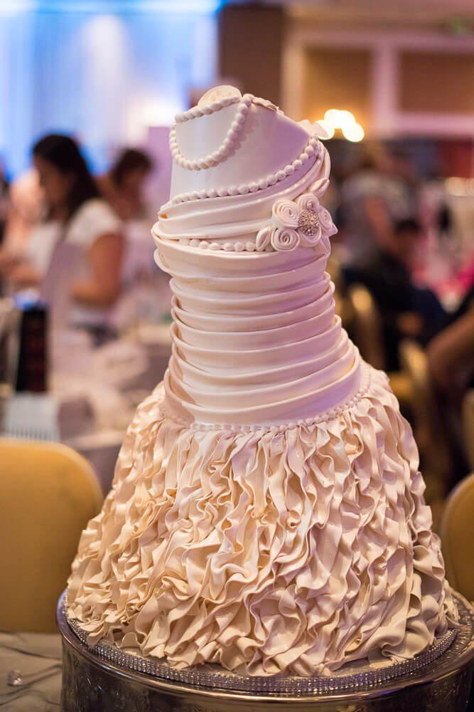Wedding dress cake at Delray Beach Bridal Show