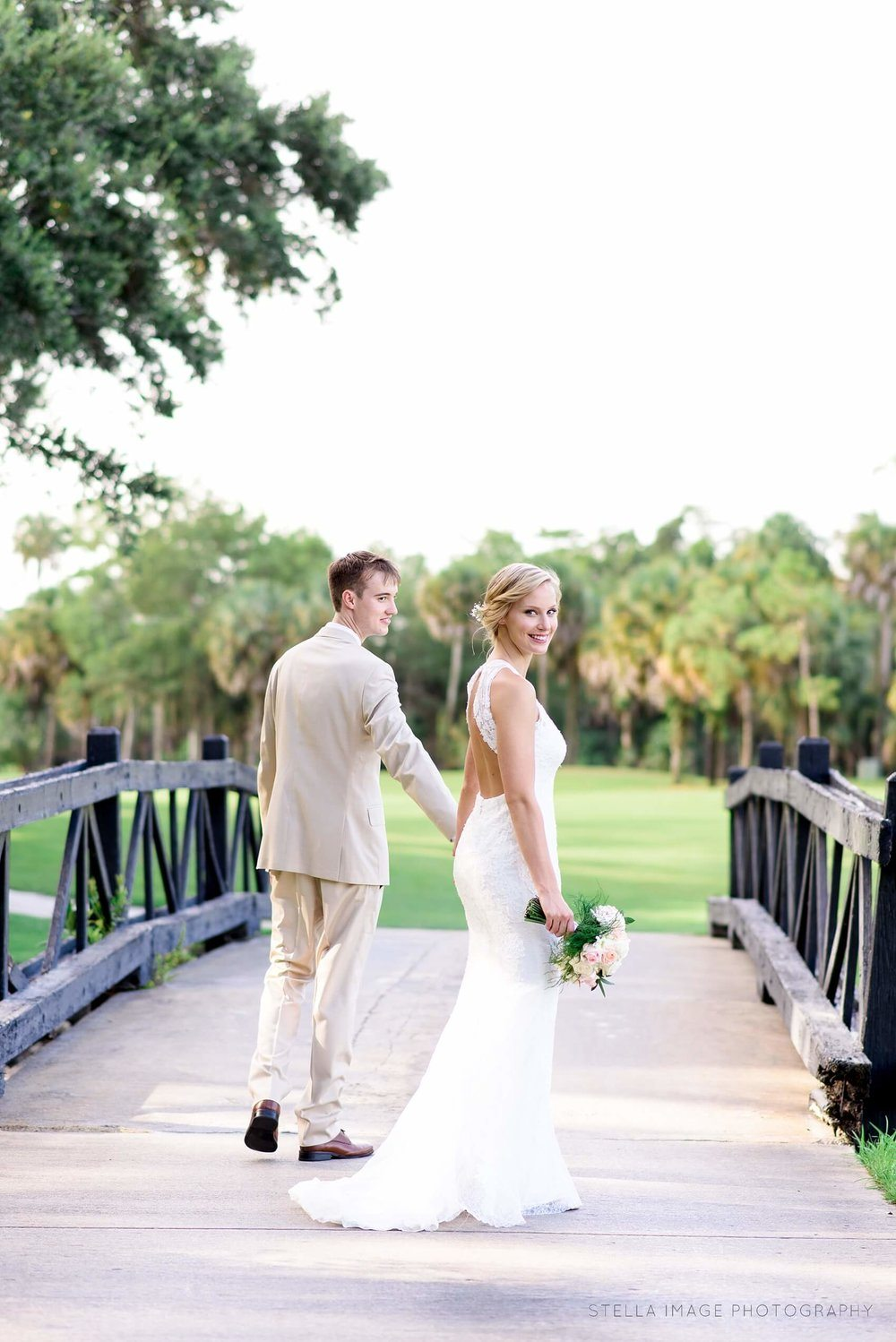 Bride and Groom at Mayacoo Lakes Country Club and Golf Course in West Palm Beach