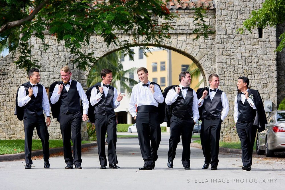 Groom with his dapper groomsmen.